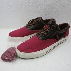 Polo Ralph Lauren Leather Canvas Deck Shoes 13 D